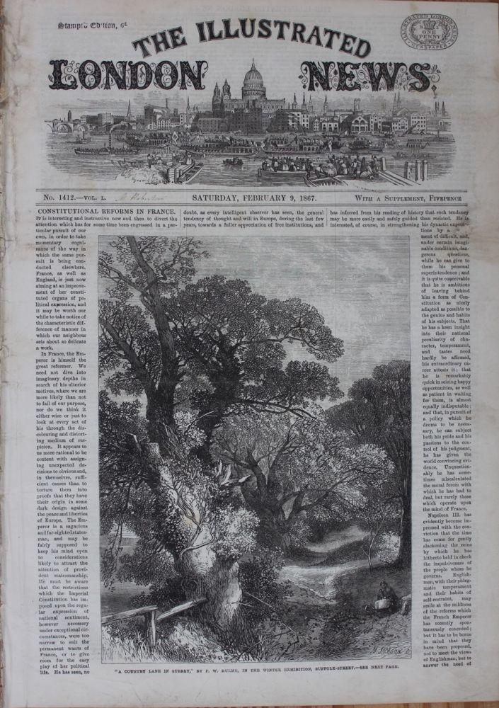 Illustrated London News - February 9, 1867 (Lord Stanley image and article). Illustrated London News, Charles MONK, 4th Viscount Monck, subject.