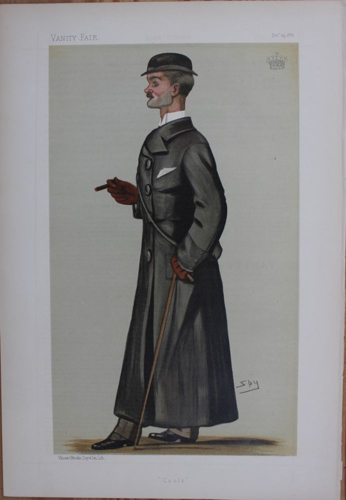 Coals print Lord Durham Dec. 24th, 1887 spy. Lord John George Lambton Earl of Durham DURHAM.