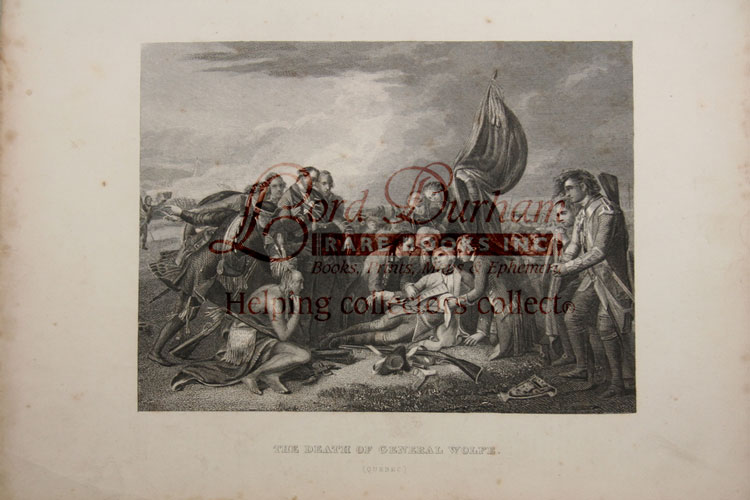 Death of General Wolfe (Quebec) 1831 B&W print. General James WOLFE.
