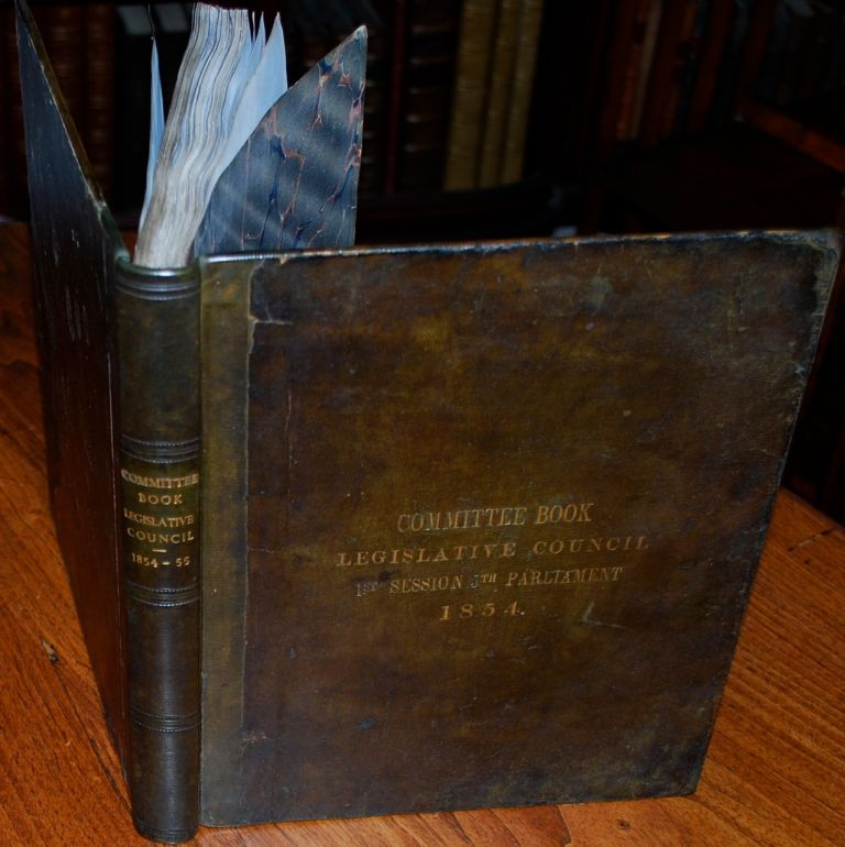 The 5th Parliament of the Province of Canada content from 1854-57 Committee Logbook. Province of Canada Government.