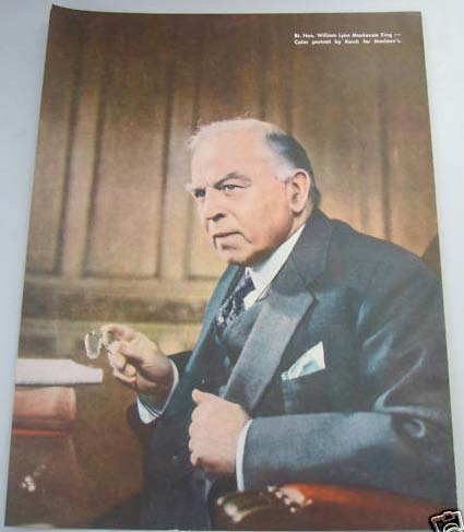 Maclean's Political Ad William Lyon MacKenzie King Portrait (printed from photo by Yousuf Karsh ). William Lyon MacKenzie KING.