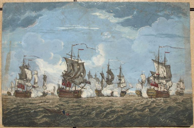 The Glorious Action off Cape Francois 21 Octobr. 1757, between Three English and Seven French Ships of Warr. Pierre Charles CANOT, Francis SWAINE, , artist, c.