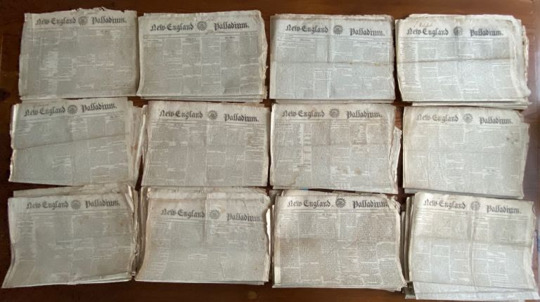 War of 1812 - 43 issues from 1814 of New England Palladium, Boston newspapers. New England Palladium newspapers.