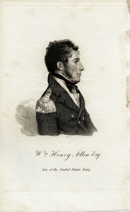 Wm. Henry Allen Esq. late of the United States Navy engraving. Joseph DENNIE, Oliver Oldschool.