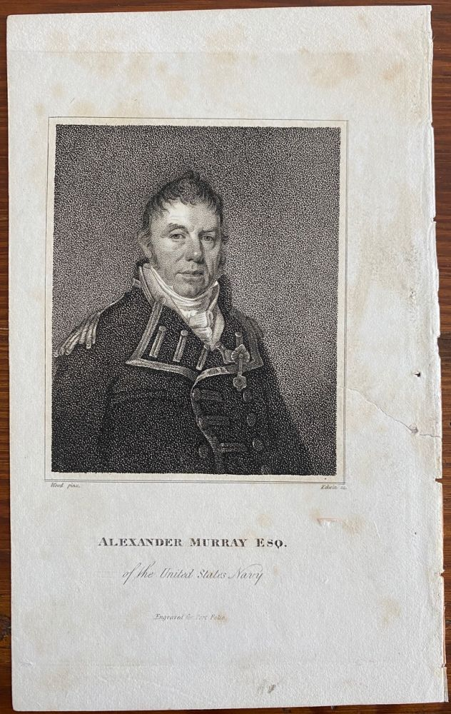 Alexander Murray Esq. of the United States Navy engraving. Joseph DENNIE,  subject Commodore Alexander Murray, Oliver Oldschool.