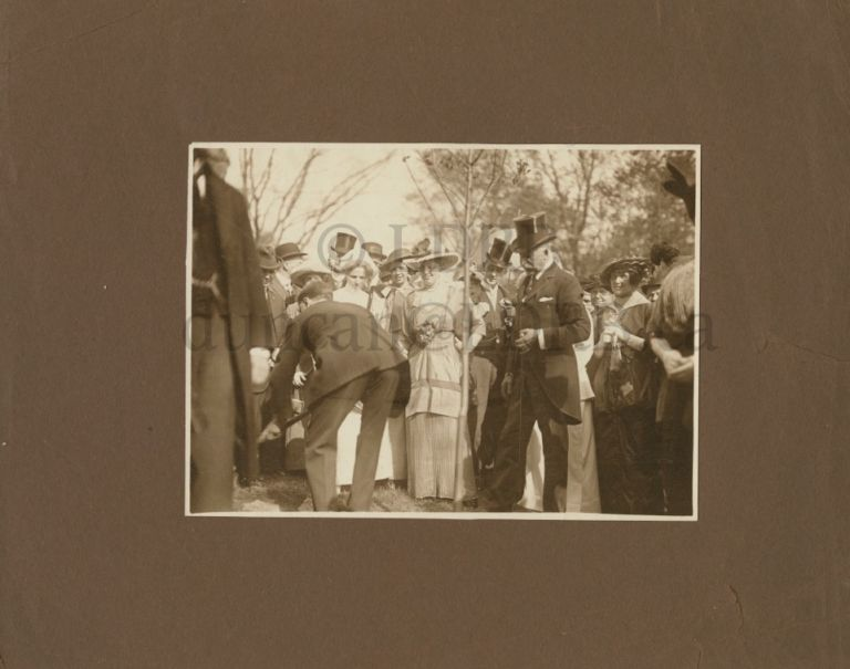 Photo of Sir William Mulock and others at a ceremony. Sir William MULOCK.