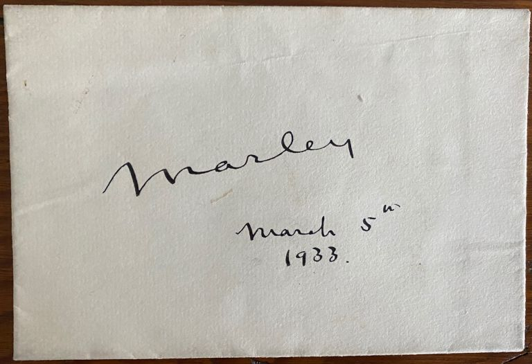 Signature on envelope of Dudley Leigh Aman, 1st Baron Marley. Dudley Leigh AMAN, Lord Marley.