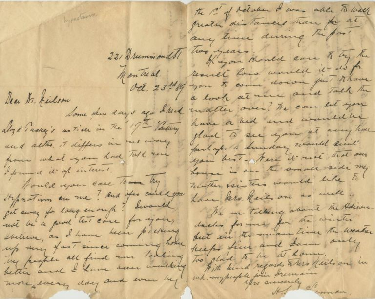 Three Autographed Letters Signed (ALS) relating to John Lewis Neilson. Colonel John Lewis Hurbert NEILSON.