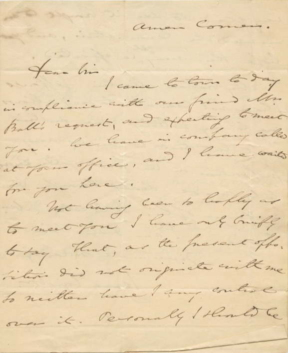 Two Autographed Signed Letter (ASL) of Isaac Taylor. Isaac TAYLOR.