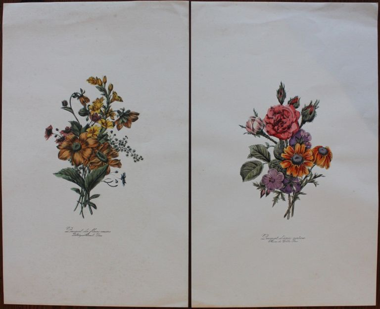 Two floral large prints.