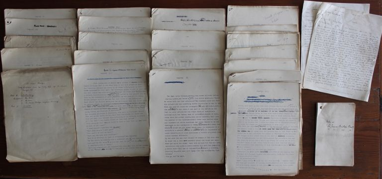 "Robert Leighton unpublished typescript novel ""Sir James Bridges"" collection. Robert LEIGHTON."