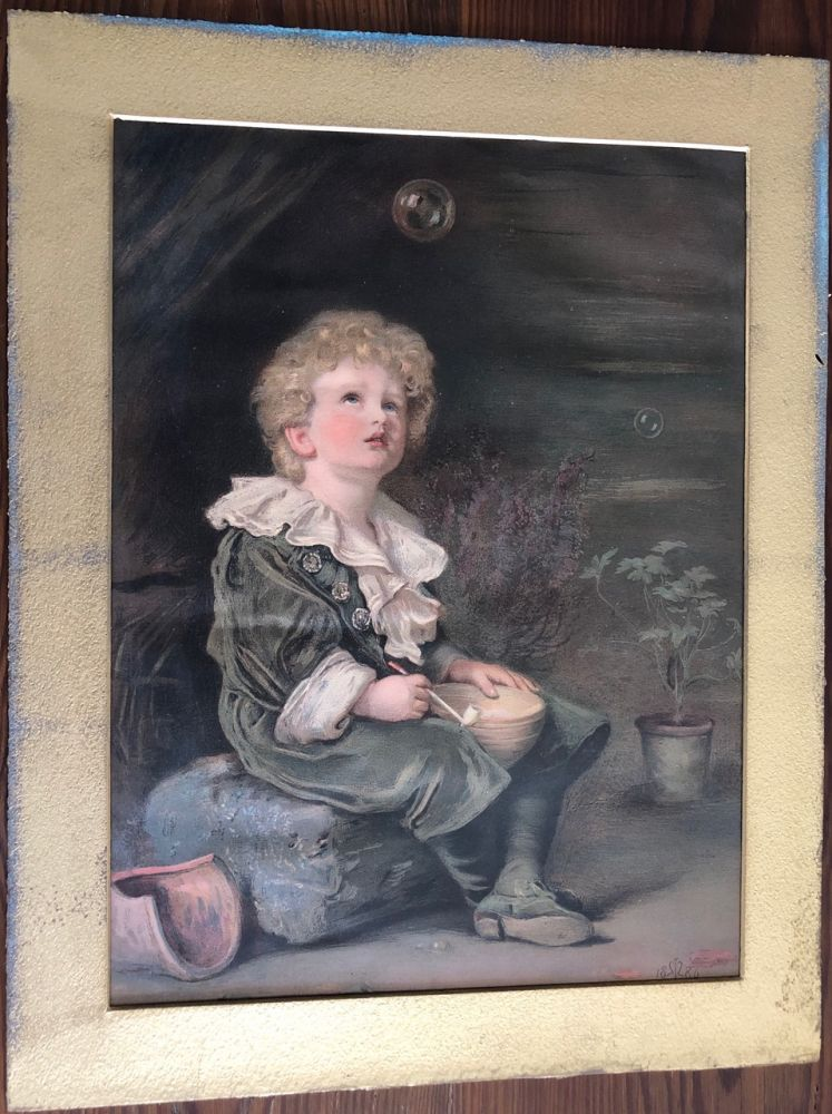 "The iconic ""Bubbles"" Illustrated London News chromolith print. John Everett MILLAIS, after."