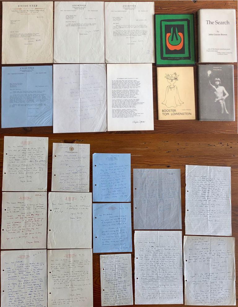 Sir Stephen Spender collection. Sir Stephen SPENDER.