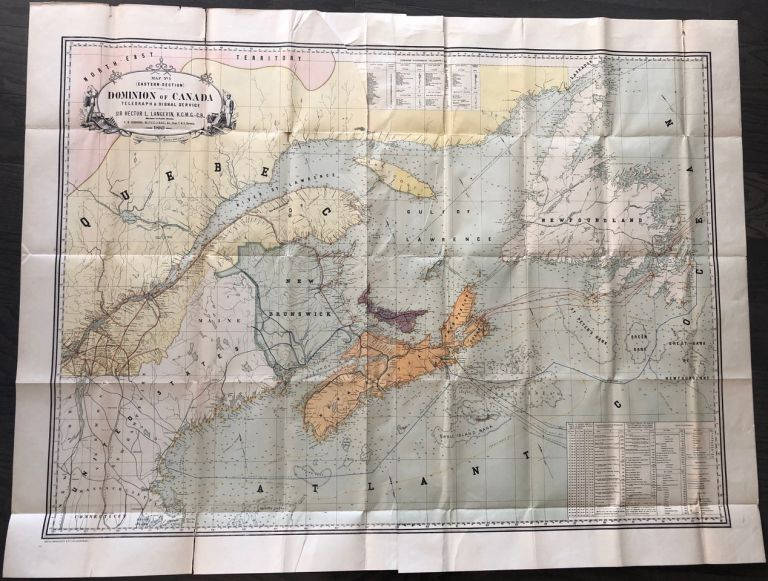 Map No. 1 (Eastern-Section) Dominion of Canada Telegraph & Signal Service. Sir Hector Langevin K.C.M.G. – C.B. Minister of Public Work. F. N. Gisborne, Gust. Smith. F. N. GISBORNE, Hector Sir LANGEVIN, Gustave SMITH, Frederick Newton.
