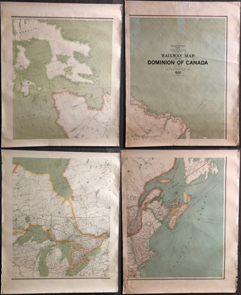 Railway map of the Dominion of Canada 1920. J. E. CHALIFOUR, Joseph Epiphane.