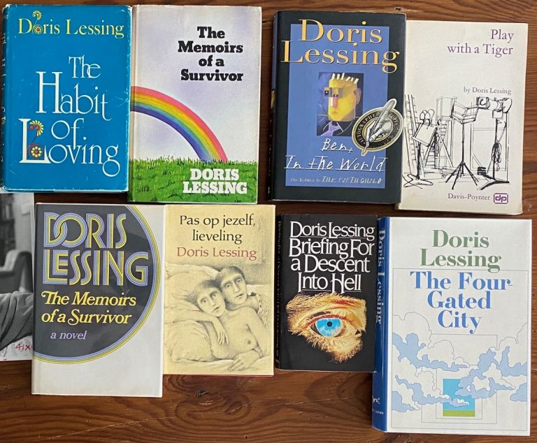 Doris Lessing 9 Signed Books collection. Doris May LESSING.