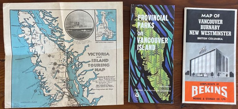 3 Vancouver, Victoria BC related maps.