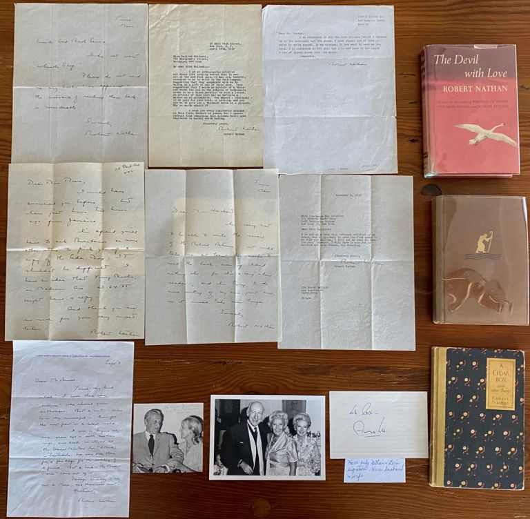 Robert Nathan Letters, Books & Ephemera collection. Robert NATHAN.