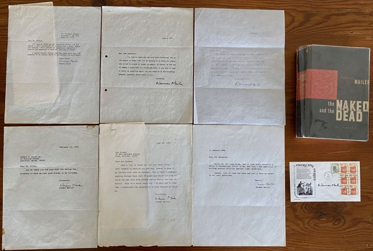 Norman Mailer Letters and Book collection. Norman Kingsley MAILER.