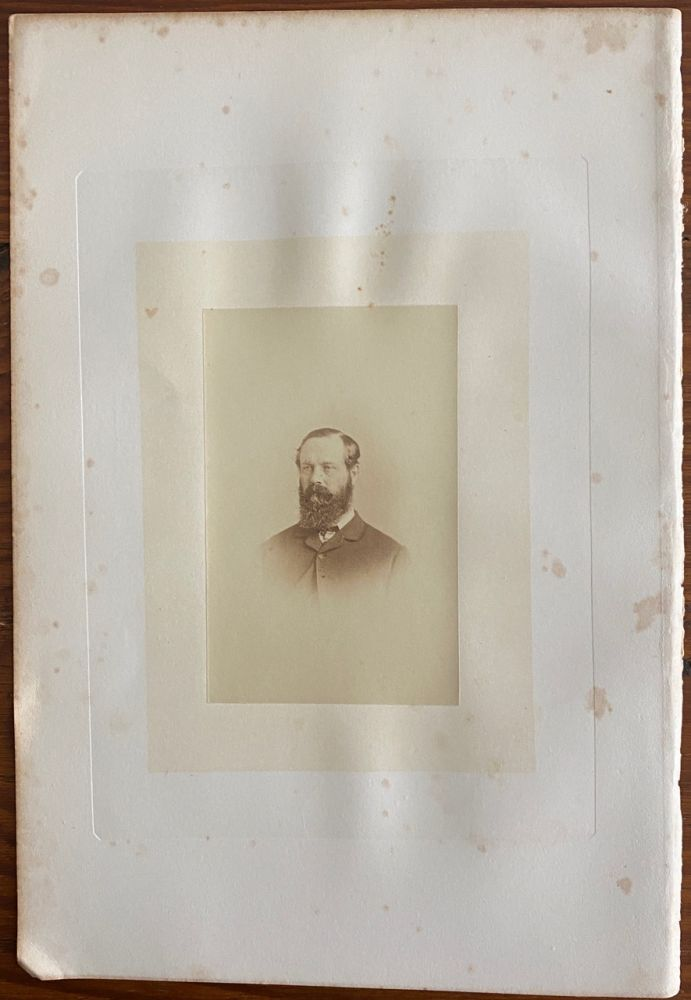 [His Excellency Viscount Monk] albumen photo. Charles MONK, 4th Viscount Monck, William NOTMAN, subject, photographer.