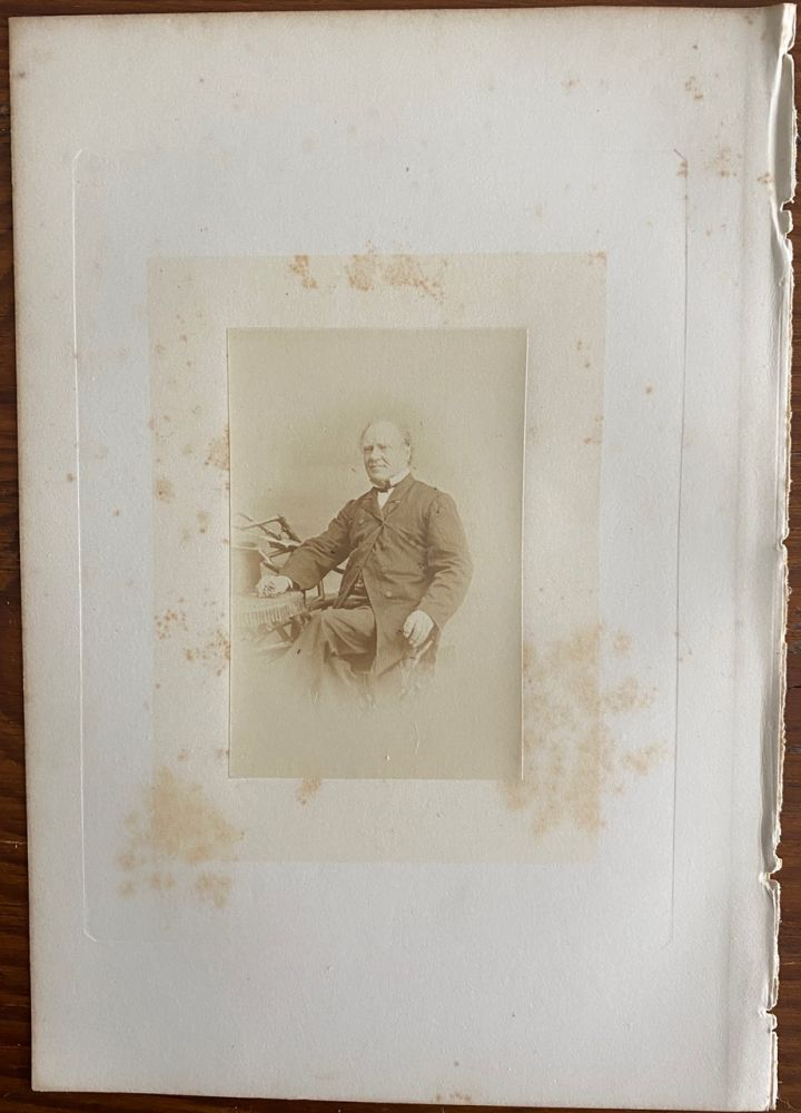 [Honorable Joseph Howe] albumen photo. Joseph HOWE, William NOTMAN, photographer.