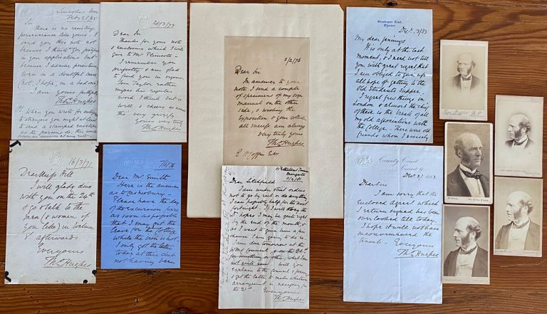 Thomas Hughes Letters and CDV collection. Thomas HUGHES.