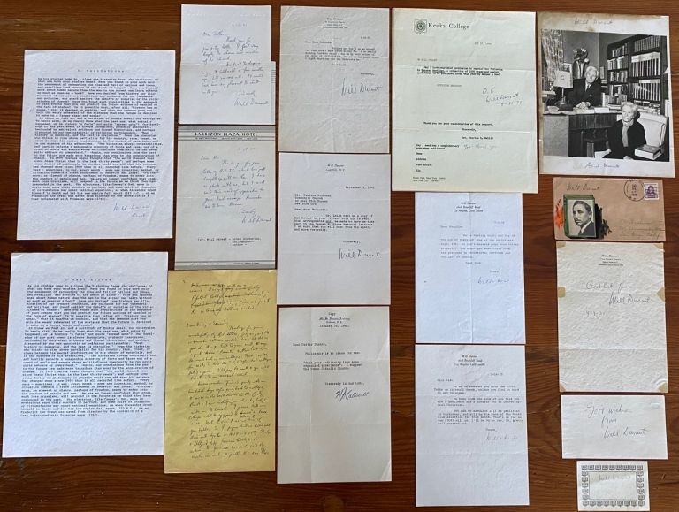 Will Durant Typescripts, Letters and Ephemera collection. Will James DURANT.