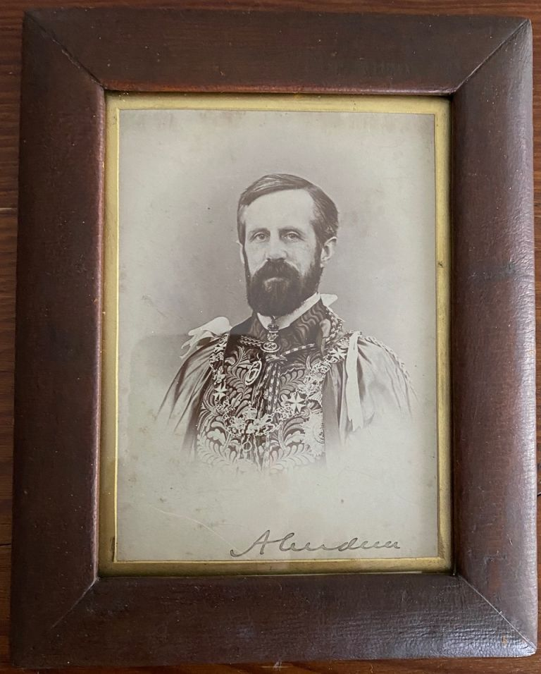 Lord Aberdeen signed photo. John Campbell 1st Marquess of Aberdeen and Temair HAMILTON-GORDON.