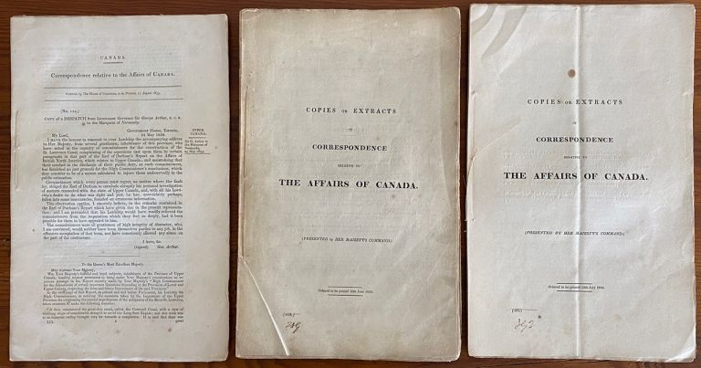 Lord Durham 3 Parliamentary Papers Responses Collection. Lord John George Lambton Earl of Durham DURHAM.