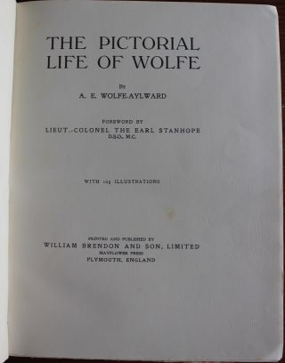 The Pictorial Life of Wolfe