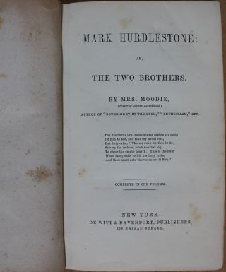 Mark Hurdlestone : Or, the Two Brothers