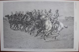 "The Canadian Mounted Police on a ""Musical Ride"". Frederic Sackrider REMINGTON, J O. Davidson, Charles Graham, F. Barnard."