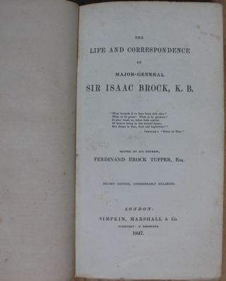 The Life and Correspondence of Major-General Sir Isaac Brock