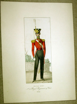 British Army 1st or Regiment of Foot print. Gentleman's Magazine of Fashions , unknown artist.