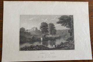 Lambton Hall engraving. John Preston NEALE, William RADCLYFFE, Lord John George Lambton Earl of...
