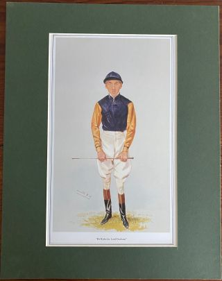 """He Rides for Lord Durham"" print. Sir Leslie Ward WARD, William GRIGGS, Lord John George Lambton..."