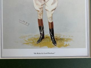 """""""He Rides for Lord Durham"""" print"""