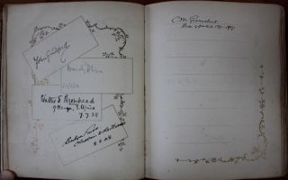 Autographs book - Primarily clergy from Canada and International