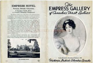 The Empress Gallery of Canada's First Ladies (Governor-General Wives). The Empress Hotel