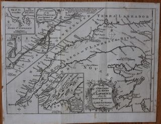 A New Chart of the River St Lawrence from the island of Anticosti to Lake Ontario. Andrew ...