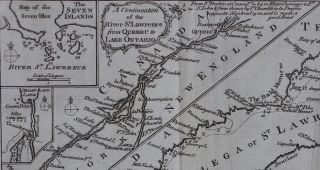 A New Chart of the River St Lawrence from the island of Anticosti to Lake Ontario