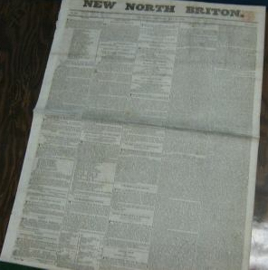 New North Brition [Scotland] Edinburgh Sat. May 12 1832. Newspaper