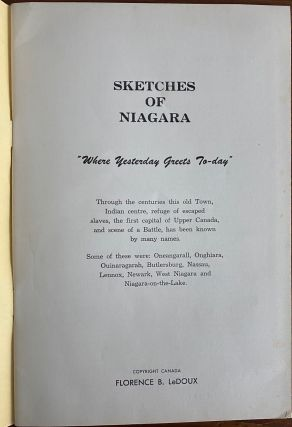 "Sketches of Niagara ""Where Yesterday Greets To-day"""
