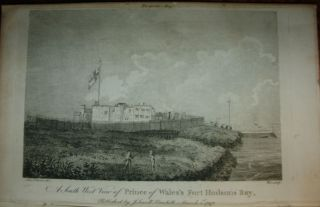 Portrait of Samuel Hearne and View of Prince of Wales' Fort, Hudson's Bay engravings, The European Magazine June 1797 issue only.