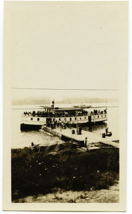 2 photos - Steamer Belle of Temagami and Hudson Bay Post, Bear Island Temagami. Temagami photos.