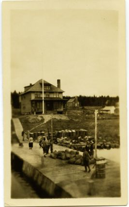 2 photos - Steamer Belle of Temagami and Hudson Bay Post, Bear Island Temagami