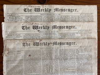 War of 1812 - 38 The Weekly Messenger, Boston newspaper collection from 1813 to 1815