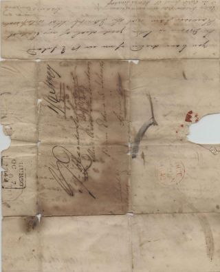 Stampless Letter from England to Prince Edward Island 1842. Joseph MACKAY, Jennet MacKenzie...