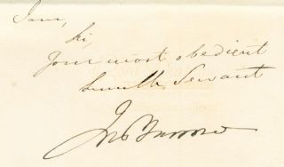 Letter (duplicate) signed by Sir John Barrow, Arctic explorer