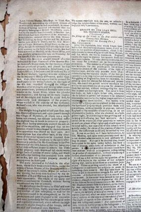 War of 1812, General Orders, Quebec The New York Evening Post, March 9, 1814,